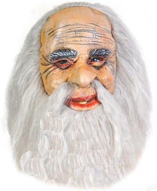 Kluizenaar masker met grijs haar