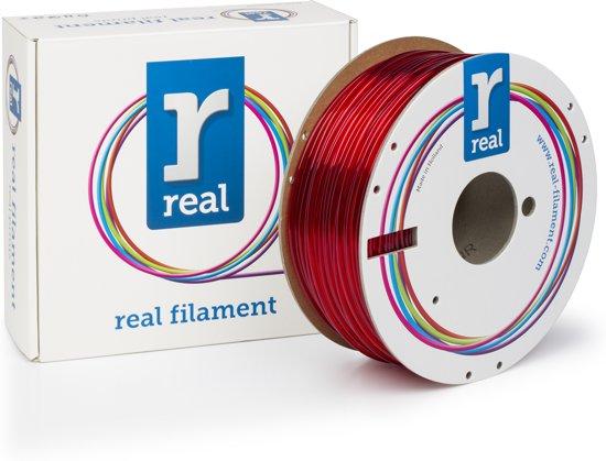 REAL Filament PETG transparant rood 2.85mm (1kg)