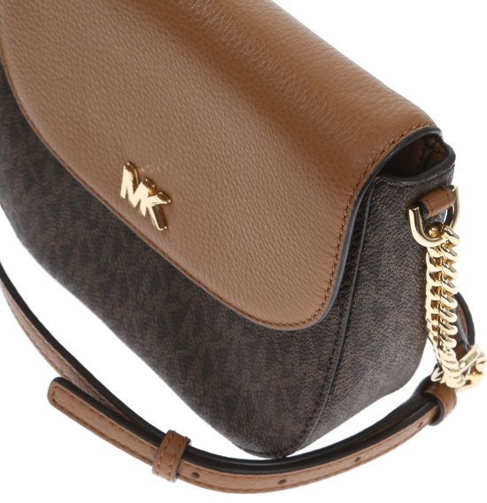 | Michael Kors half Dome signature Crossbodytas Bruin