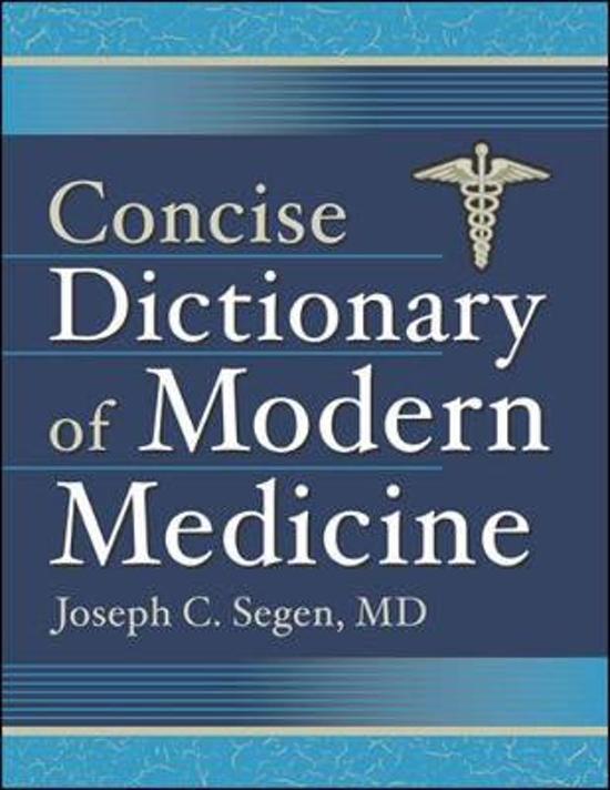 bol com   Concise Dictionary of Modern Medicine