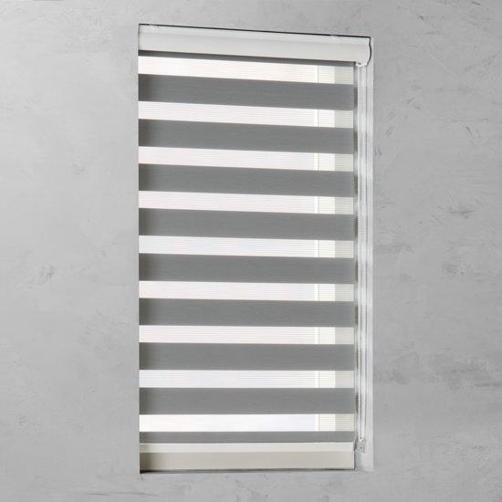 Pure Living - Duo Rolgordijn Lichtdoorlatend - 210x175 cm - Grijs