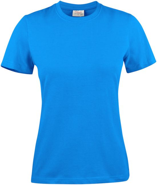 Printer T-shirt lady - 2264028 - Oceaanblauw - maat XXL