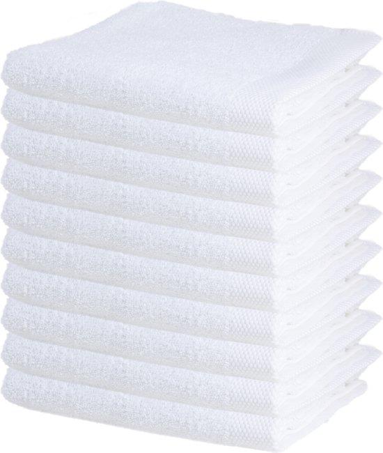 Badhanddoeken – 50x100 cm – Wit – 10 stuks
