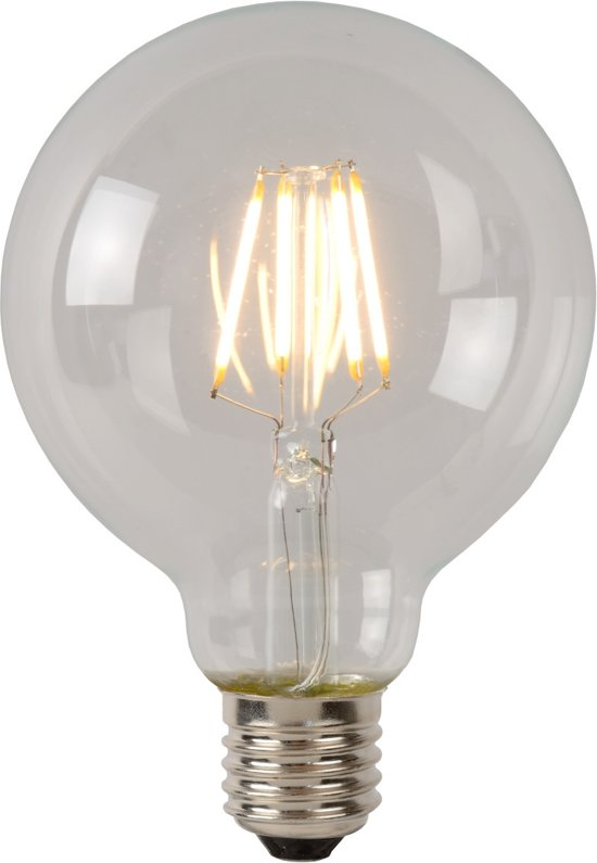 Lucide LED BULB - Filament lamp - Ø 9,5 cm - LED Dimb. - 1x5W 2700K - Transparant