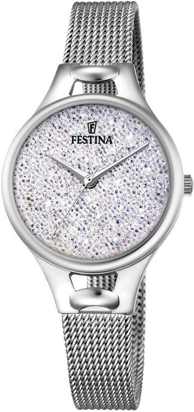 Festina F20331/1 horloge dames - zilver - edelstaal