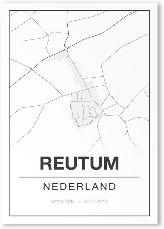 Poster/plattegrond REUTUM - 30x40cm