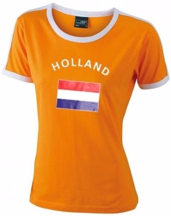 Holland Dames Vlag Shirt M Wk Oranje 7ybvfY6g