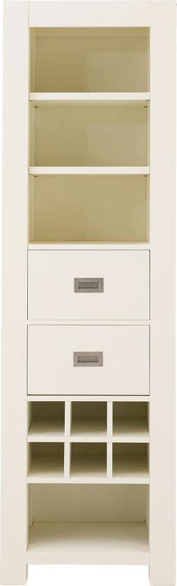 goossens boekenkast belvedere boekenkast 60 cm breed 2 laden 4 open vakken