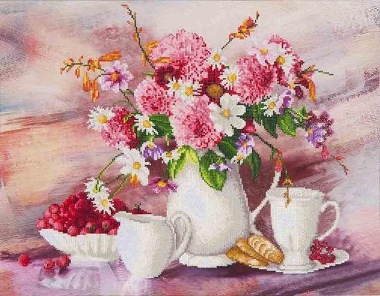 Needle Art Romantic Tea Time Diamond Painting 72x56 cm