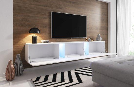 Ruime Tv Kast.Bol Com Zwevend Tv Meubel Eiken 240 Cm Led Clean Design