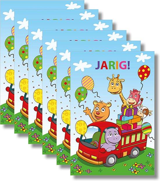 6x dubbele wenskaart met envelop - Gefeliciteerd - Kinderen - 11,5 x 17 cm