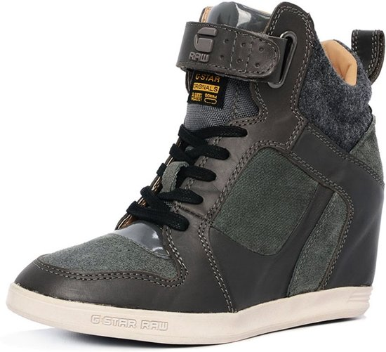 7a0d3407b7d8 G-Star Raw Yard Wedge Belle Giltedge LTHR GS62492 Grijze Sneakers