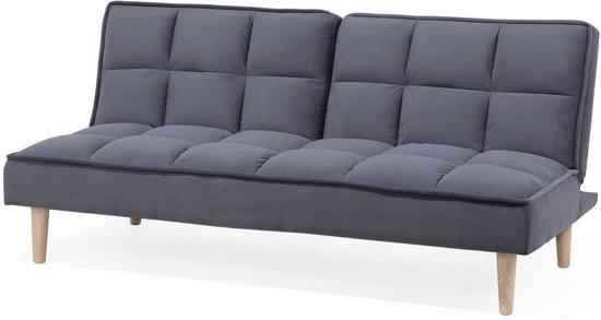 Beliani Siljan Slaapbank Grijs polyester