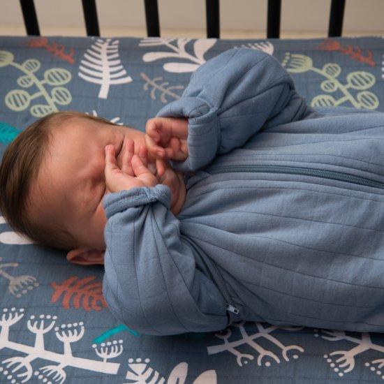 Lodger Baby slaapzak - Hopper Solid - Blauw - Lange mouw - 68/80