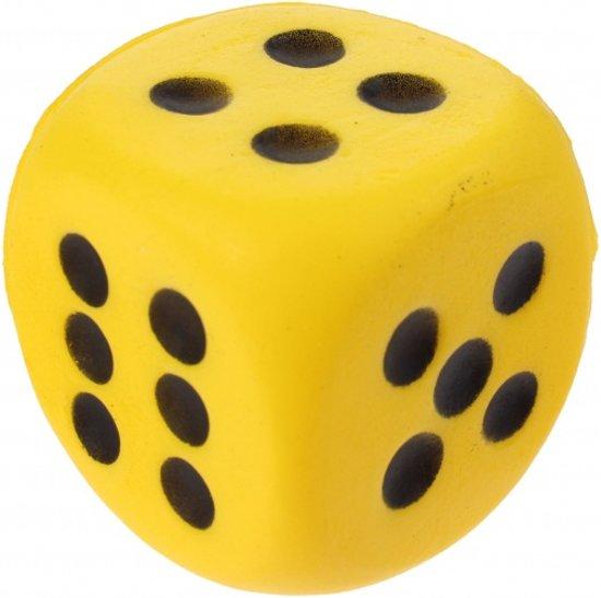 Afbeelding van het spel Toi-toys Foam Dobbelsteen 4 Cm Geel