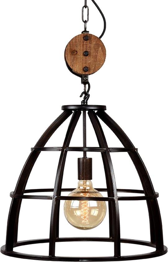 Label51 hanglamp lift zwart industrieel for Freelight lampen
