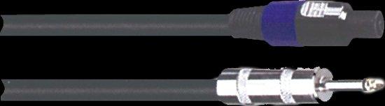 Luidsprekerkabel 15M 2 x 6,35 JACK MONO STEKKERS. Voor de aansluiting van een luidsprekerbox op een versterker. Metalen pluggen met veer en 2x1,5mm² kabel.
