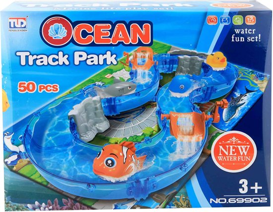 Jonotoys Waterbaan Ocean Track Park Junior Blauw 50-delig
