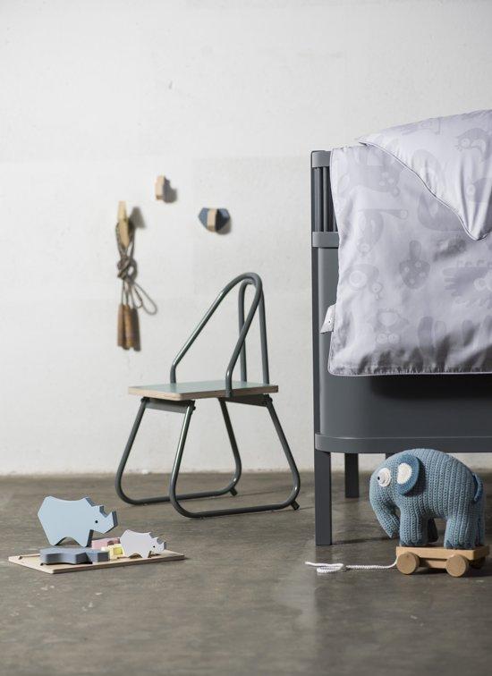 Sebra - Kili ledikant en juniorbedje - donker grijs