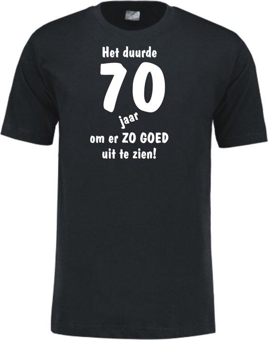 Mijncadeautje - Leeftijd T-shirt - Het duurde 70 jaar - Unisex - Zwart (maat L)