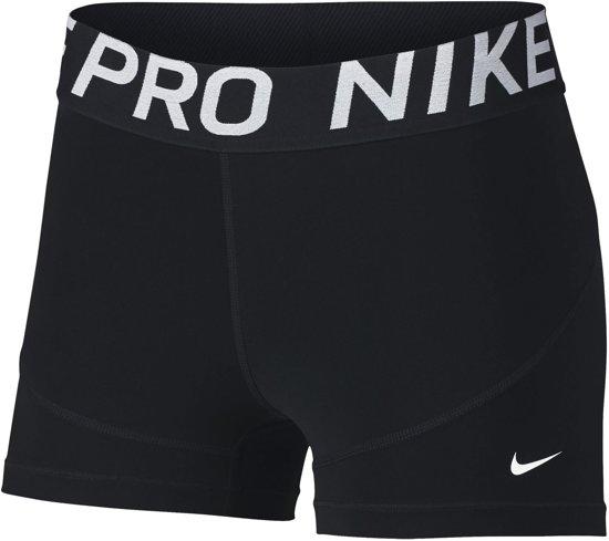 New DamesBlack 3in Sportbroek white Nike Pro W Short srQdht