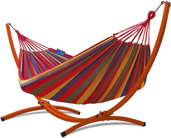 Hangmat Voor 2 Personen.Bol Com Potenza Hangmat Met Standaard 2 Persoons Hangmatset 2