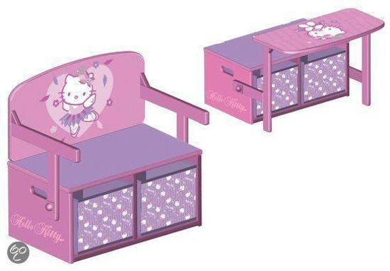 Hello Kitty Opbergrek.Bol Com Hello Kitty 3 In 1 Opbergmeubel Delta Speelgoed