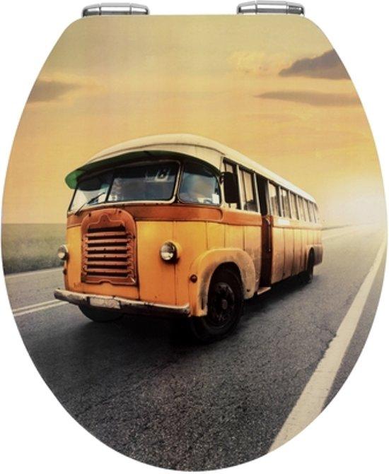 Cars Wc Bril.Bol Com Wc Sitz Vintage Bus Metal Plate Oberflache