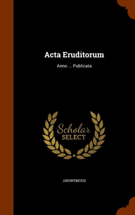 ACTA Eruditorum