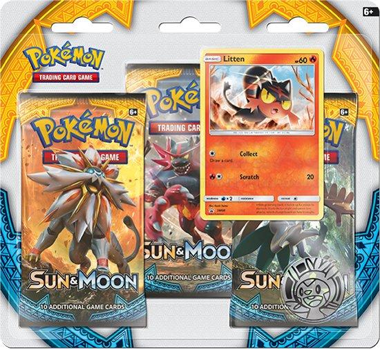 Afbeelding van het spel Pokémon TCG: 1 Sun & Moon 3 Pack Blister