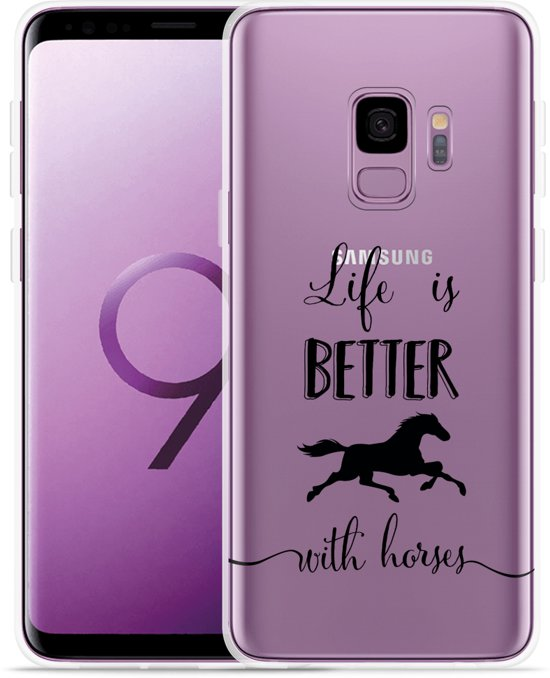 Galaxy S9 Hoesje Life is Better with Horses