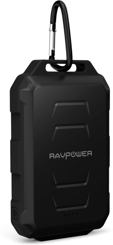 RAVPower RP-PB044 Powerbank 10.050 mAh Outdoor 2 USB Poorten 3.4A Zwart