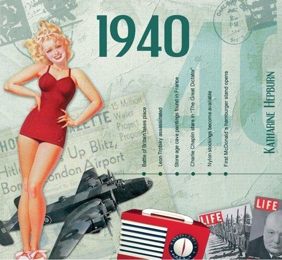 Betere bol.com | Verjaardagskaart 80 jaar met muziek uit 1940 - Cadeau YW-57