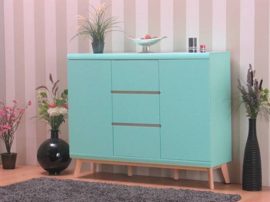 dressoir jazz modern highboard mintgroen. Black Bedroom Furniture Sets. Home Design Ideas