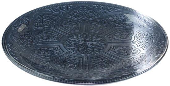 Decoratie schaal met ornament motief - Blauw - Ø35cm