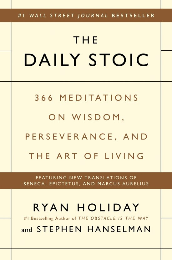 Boek cover The Daily Stoic van Ryan Holiday (Hardcover)