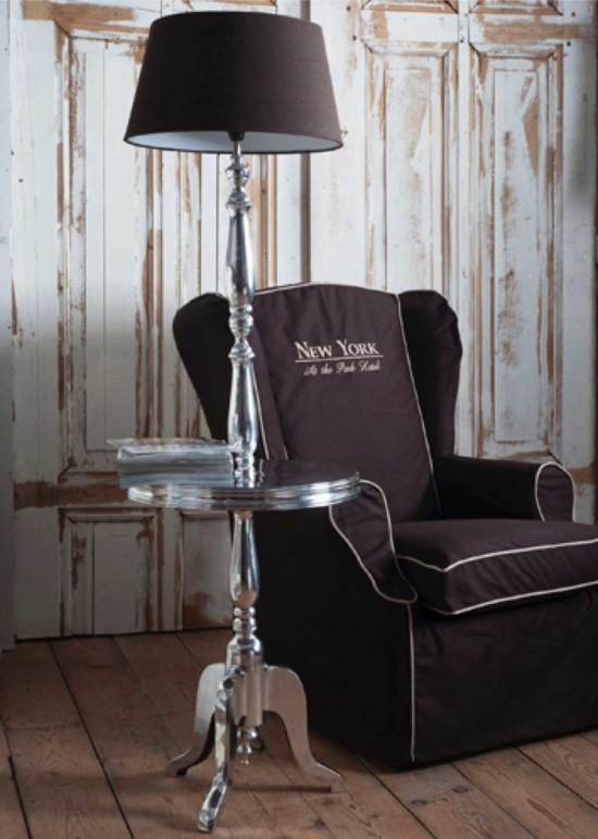 Rivièra Maison Winston Winetable with Lamp - Staande Lamp - Aluminium