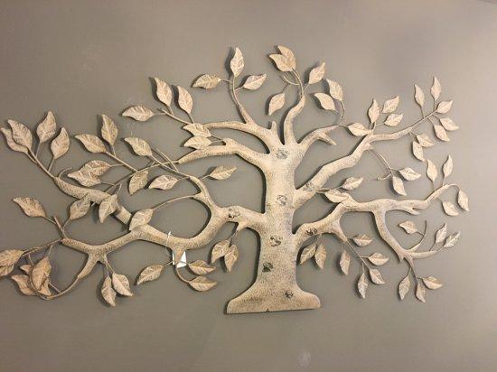 bolcom metalen wanddecoratie olijfboom