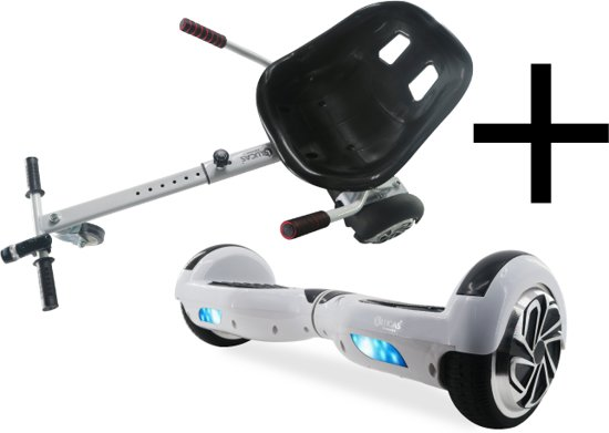 Nieuw bol.com | Hoverboard Oxboard Lucas Electronics + Hoverkart Wit IK-66