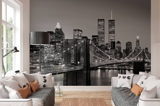 Fotobehang Brooklyn Bridge  - 8-delig - 366 × 254 cm