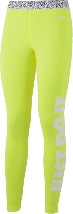 b00b4e6d00c Nike Pro Warm Mezzo Sporttight Loopbroek - Maat L - Vrouwen - geel/wit/