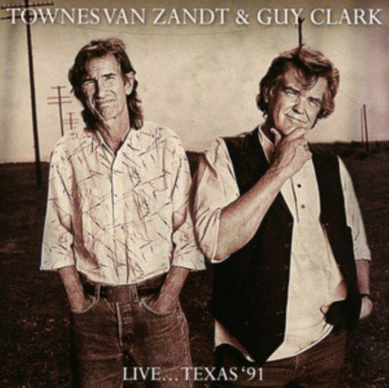 CD cover van Live... Texas 91 van Townes Van Zandt