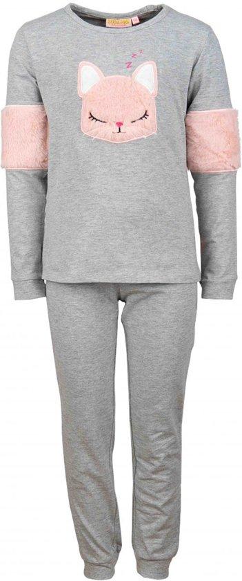 Someone Meisjes nachtkleding Someone Pyjama grijs 134