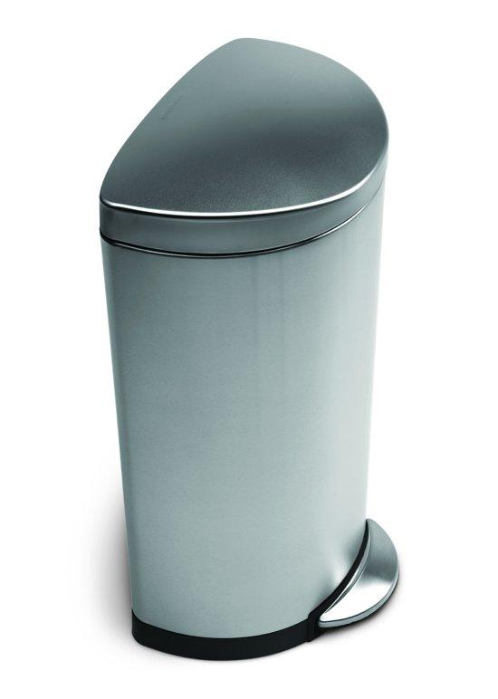 Simplehuman Afvalemmer Rectangular 38 Liter Mat Rvs.Bol Com Simple Human Afvalemmer Semi Round 30 Liter Mat Rvs