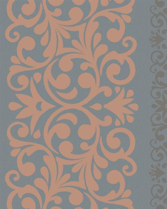 Dutch Wallcoverings vliesbehang dessin/streep - grijs/oranje