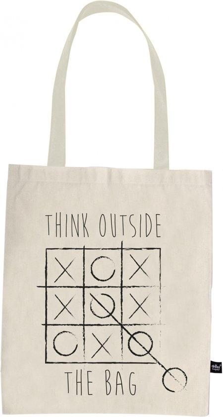 5bcba83a624 bol.com | Dresz - Shopper Think outside the bag - Katoenen tasje ...