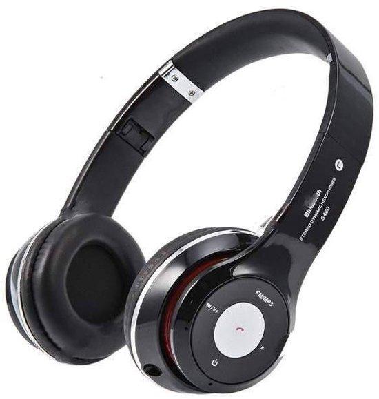 Wireless bluetooth headset  Met Fm radio en Geheugen Poort zwart
