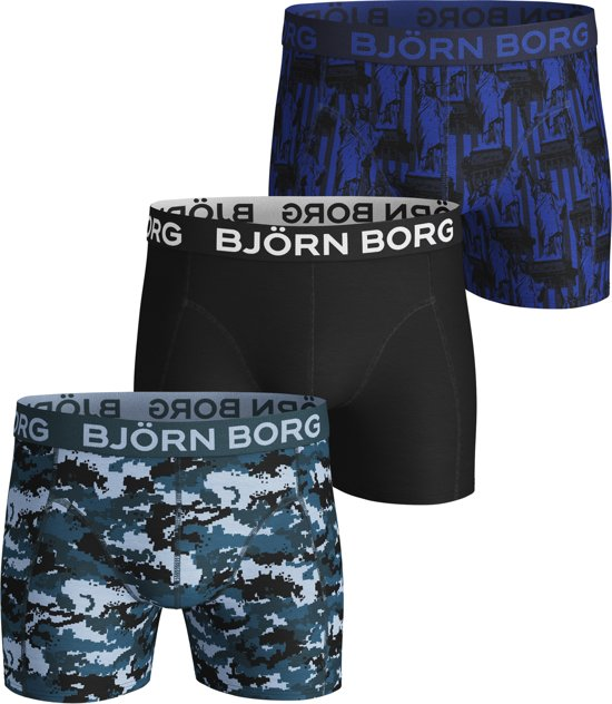 e713b2c1ecd3d6 ... Bjorn Borg SHORTS BB SILHOUETTE   BB STATUE OF LIBERTY 3p heren  boxershort - 3pack ...