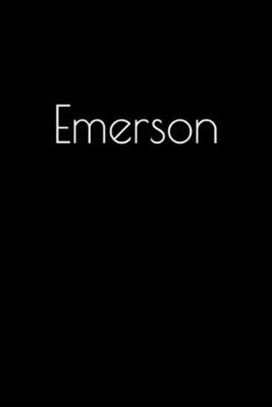 Emerson: Notebook / Journal / Diary - 6 x 9 inches (15,24 x 22,86 cm), 150 pages. Personalized for Emerson.