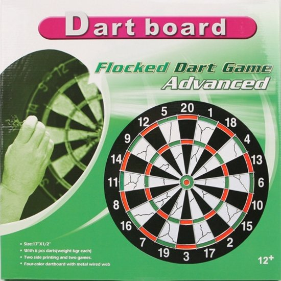 Bol Com Flocked Dart Game Advanced Dartbord Merkloos Speelgoed
